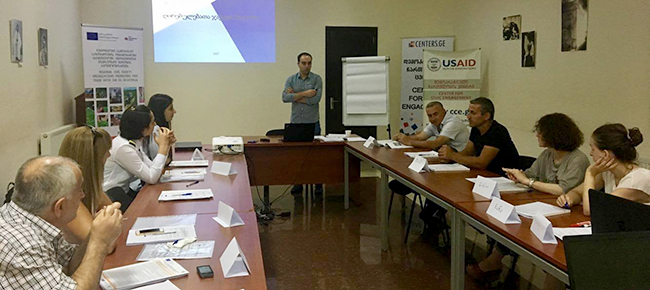 "Trainings Conducted as part of the ""Civil Society Organizations Supporting Free Trade with Europe"" Project"